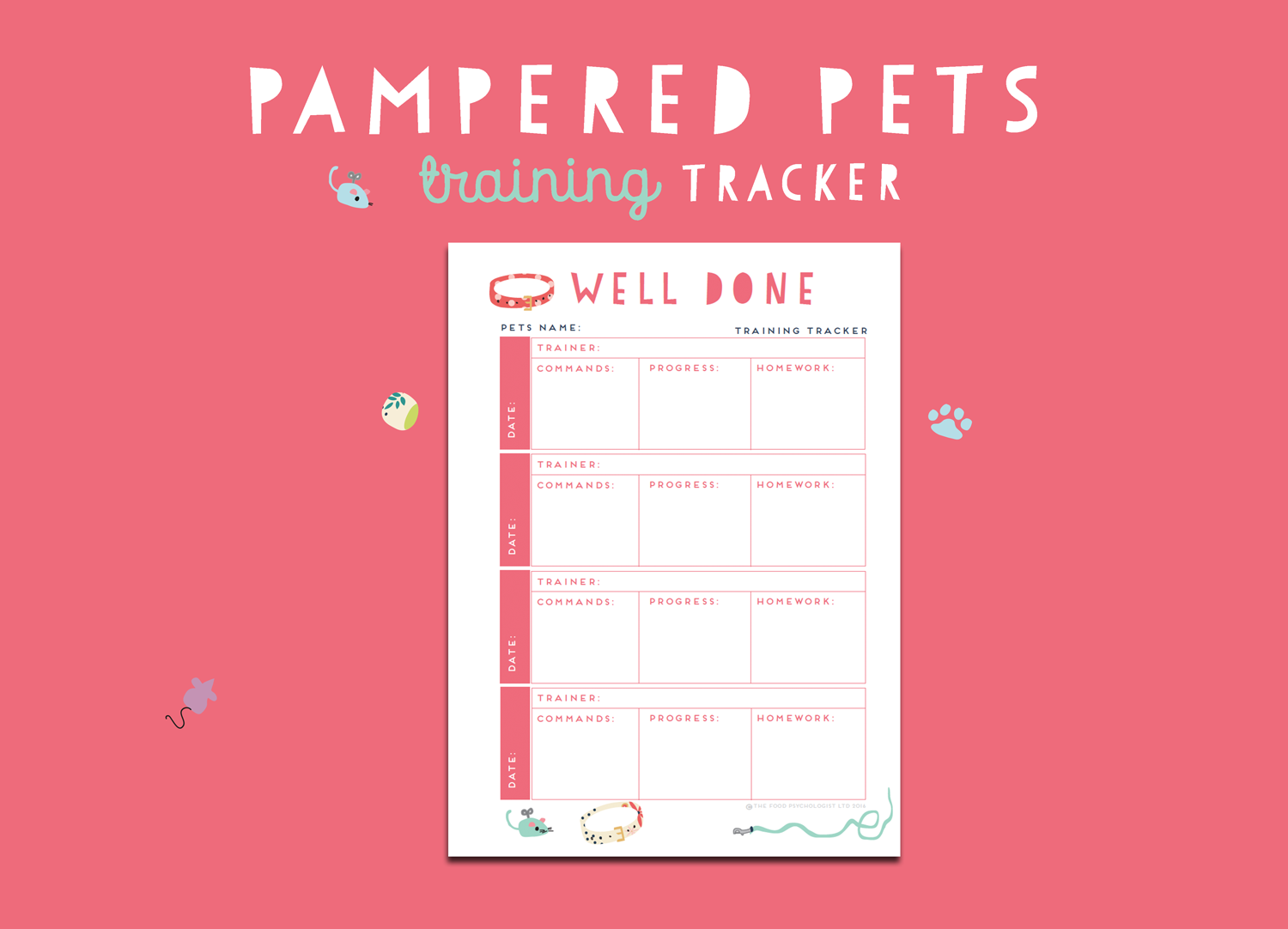 Pampered Pets Training Tracker