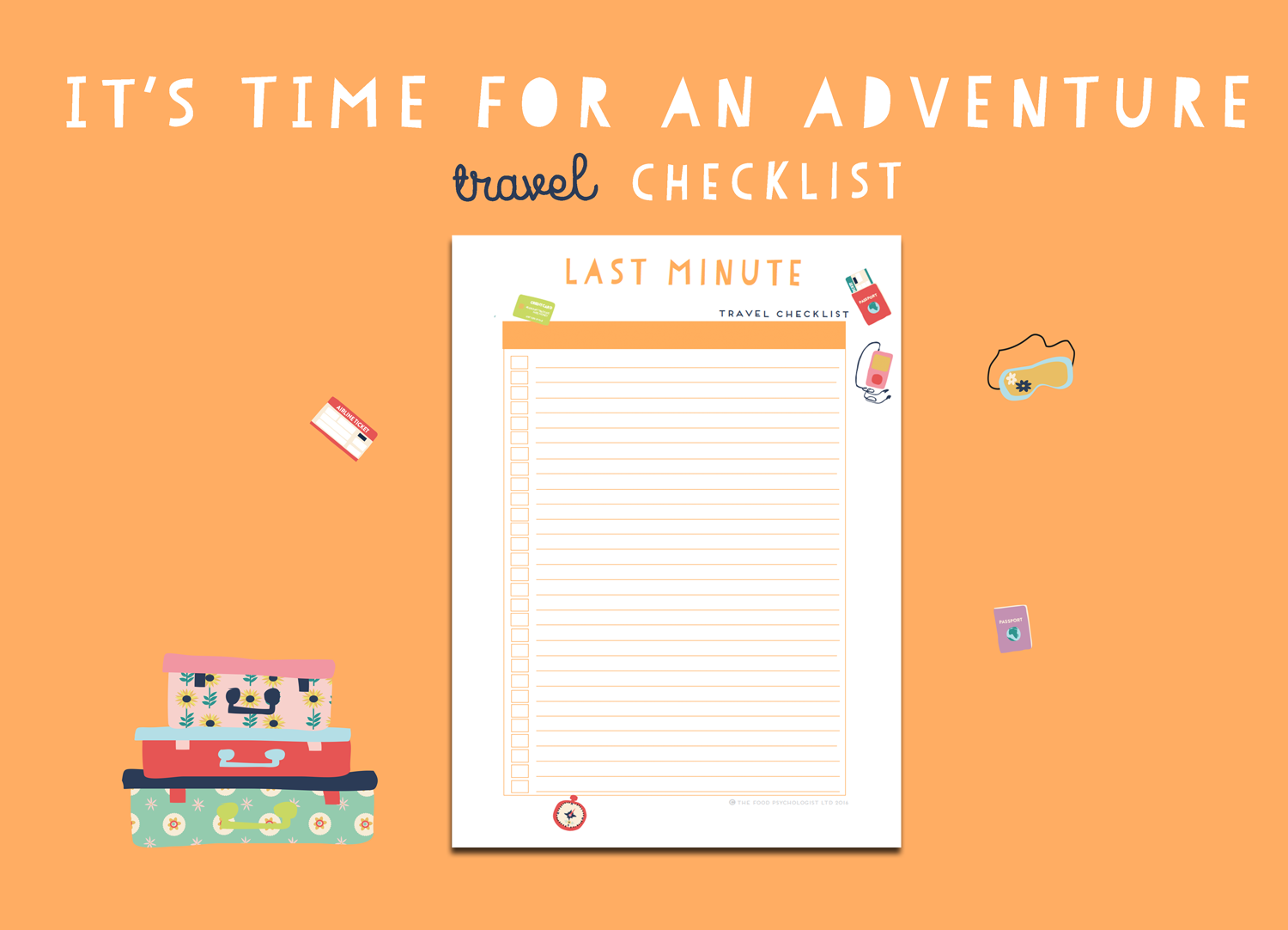 Time For An Adventure Travel Checklist