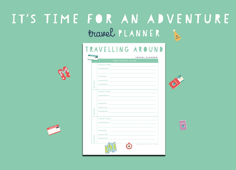 Time For An Adventure Travel Planner