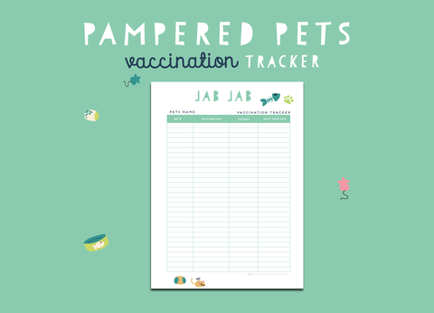 Pampered Pets Vaccination Tracker