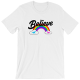 """Believe"" Rainbow t-shirt 🦄 Guys (light version) - Unicorn Fan Club"