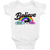 Unicorn Fan Club Membership #3 🦄 Baby Short Sleeve Onesie - Unicorn Fan Club