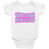 Unicorn Fan Club Membership #2 🦄 Baby Short Sleeve Onesie - Unicorn Fan Club