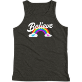 """Believe"" Rainbow tank top 🦄 Youth (dark version) - Unicorn Fan Club"