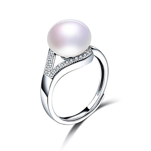 Luxury White Freshwater Pearl Ring - trinkets.pk