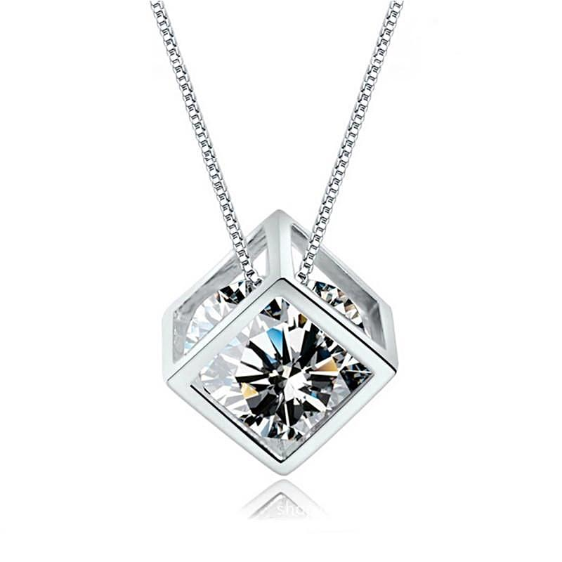 Crystal Cube Necklace - trinkets.pk