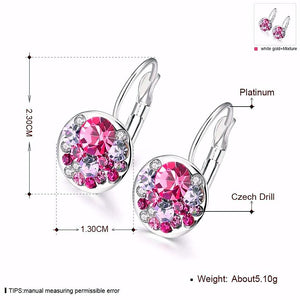 Sparkling Crystal Stud Earrings - trinkets.pk