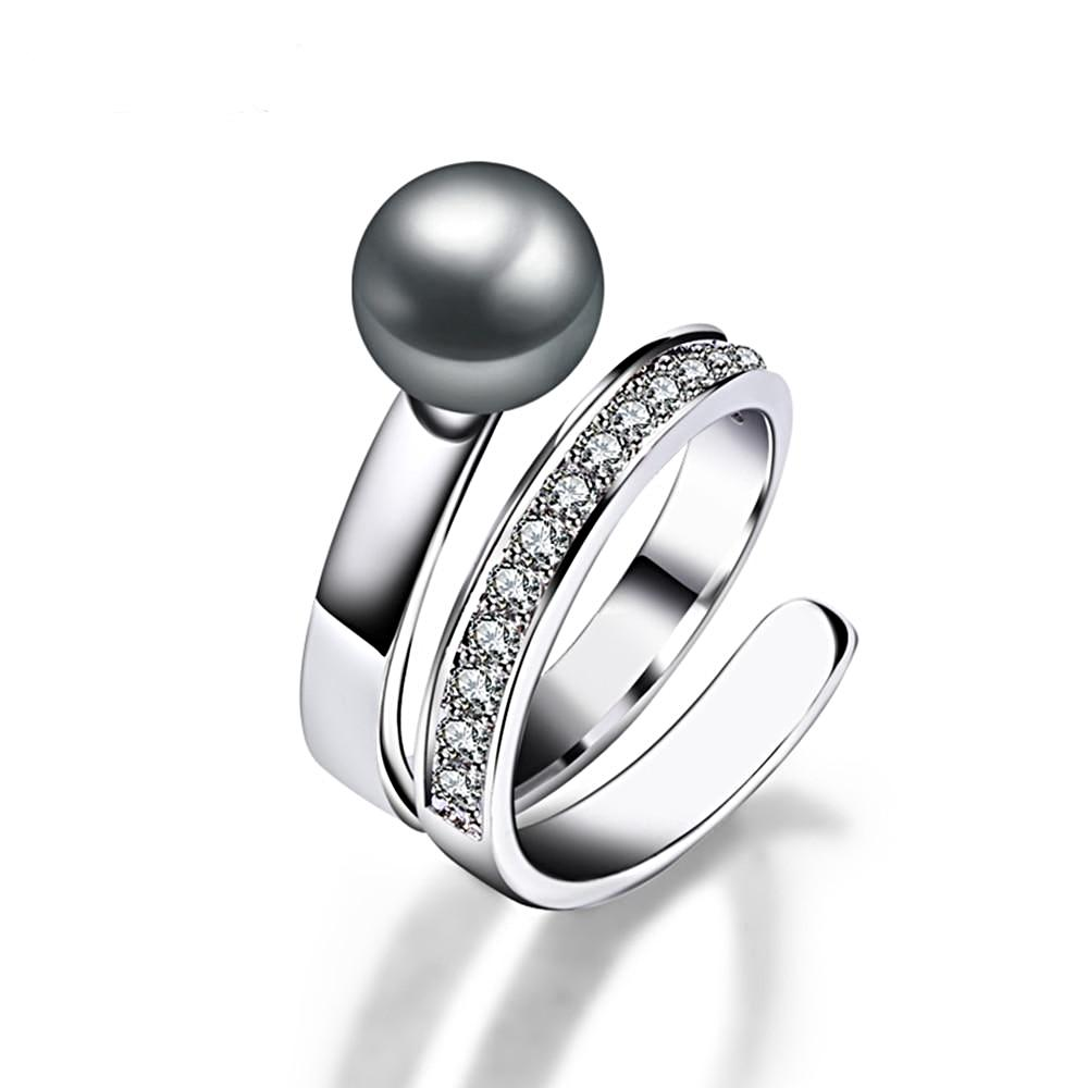 Fancy Grey Pearl Ring - trinkets.pk