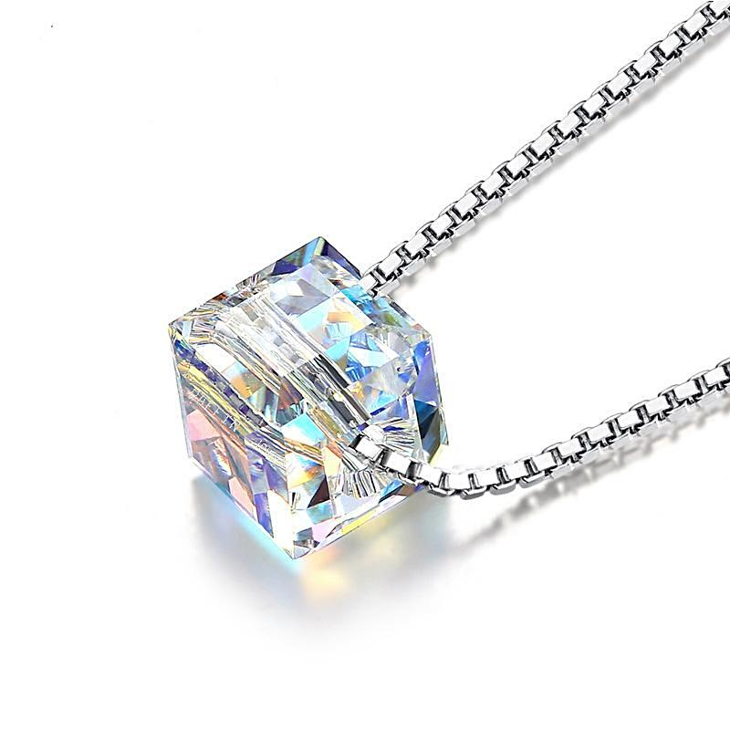 Sterling Silver Crystal Necklace - trinkets.pk