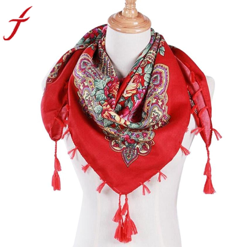 Luxury Brand Winter Autumn Floral Scarf