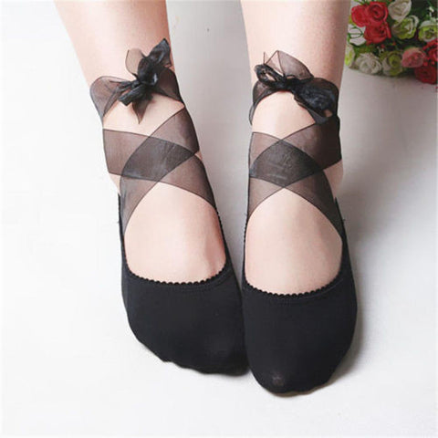 Cotton Blend Ballet Shoes Invisible Socks