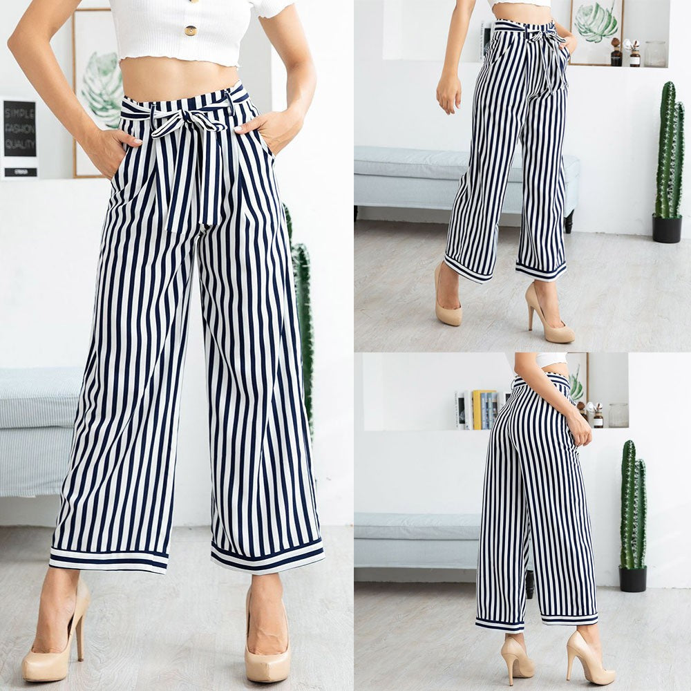 Casual  Stripes Trousers Pants