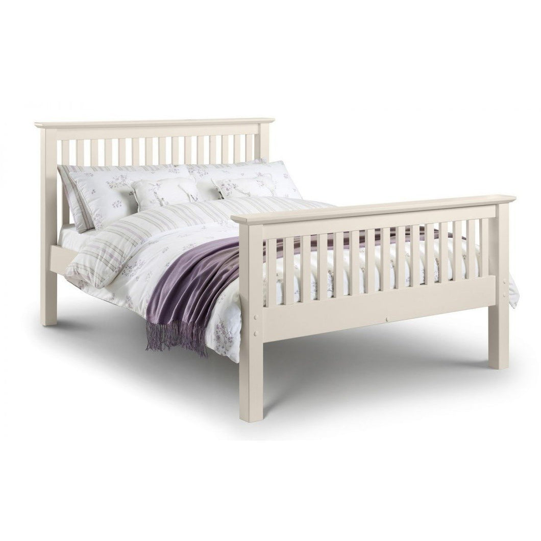 Barcelona white Bed - High Foot End, 3 Sizes - Perfectly Home Interiors