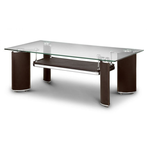 Boston Chrome and Glass Coffee Table - Perfectly Home Interiors