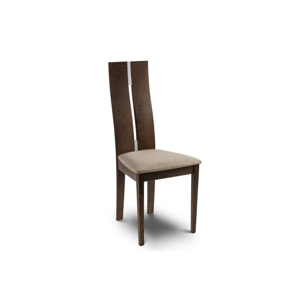 Cayman Walnut Dining Chair - Perfectly Home Interiors