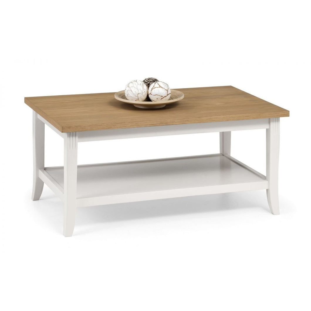 Davenport Ivory and Oak Coffee Table - Perfectly Home Interiors