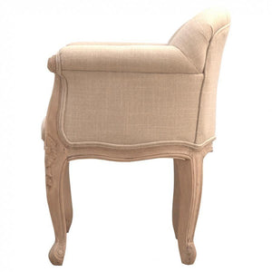 French Style Linen Accent Chair - Perfectly Home Interiors