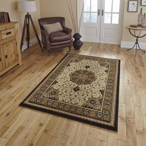 Heritage 4400 Black/Cream Rug - Perfectly Home Interiors