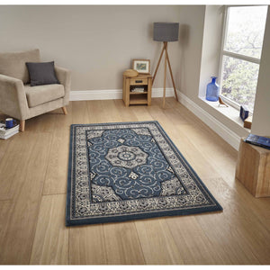Heritage 4400 Dark Blue Rug - Perfectly Home Interiors