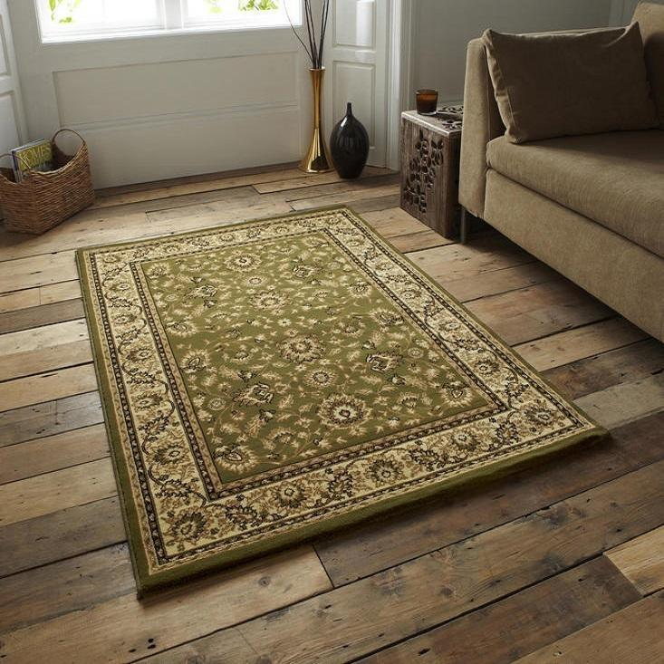 Heritage 993 Green Rug - Perfectly Home Interiors