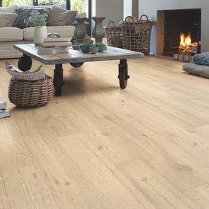 Impressive Sandblasted oak natural-Laminate-quick -step-Carpet Mills Maidstone