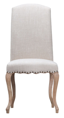 Luxury Dining Chair with studs and carved oak legs-Chair-kettle-Carpet Mills Maidstone