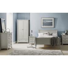 Maine 2 Door Dove Grey Wardrobe - Perfectly Home Interiors