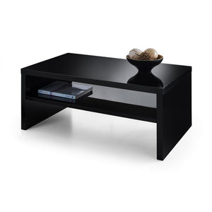 Metro High Gloss Black Coffee Table - Perfectly Home Interiors