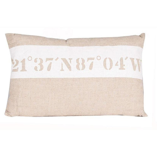 Natural Fabric Nautical Design Oblong Scatter Cushion - Perfectly Home Interiors