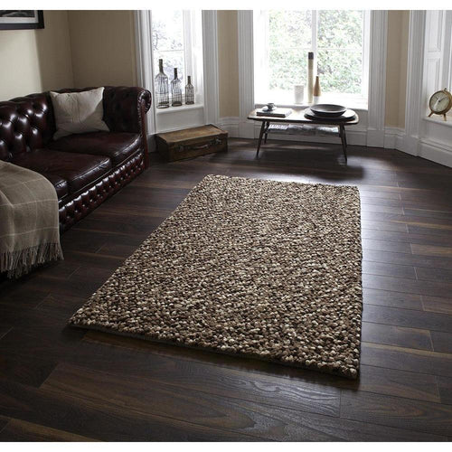 Pebbles Beige Hand Knotted Wool Rug - Perfectly Home Interiors