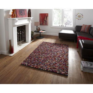 Pebbles Multi Colour Hand Knotted Wool Rug - Perfectly Home Interiors