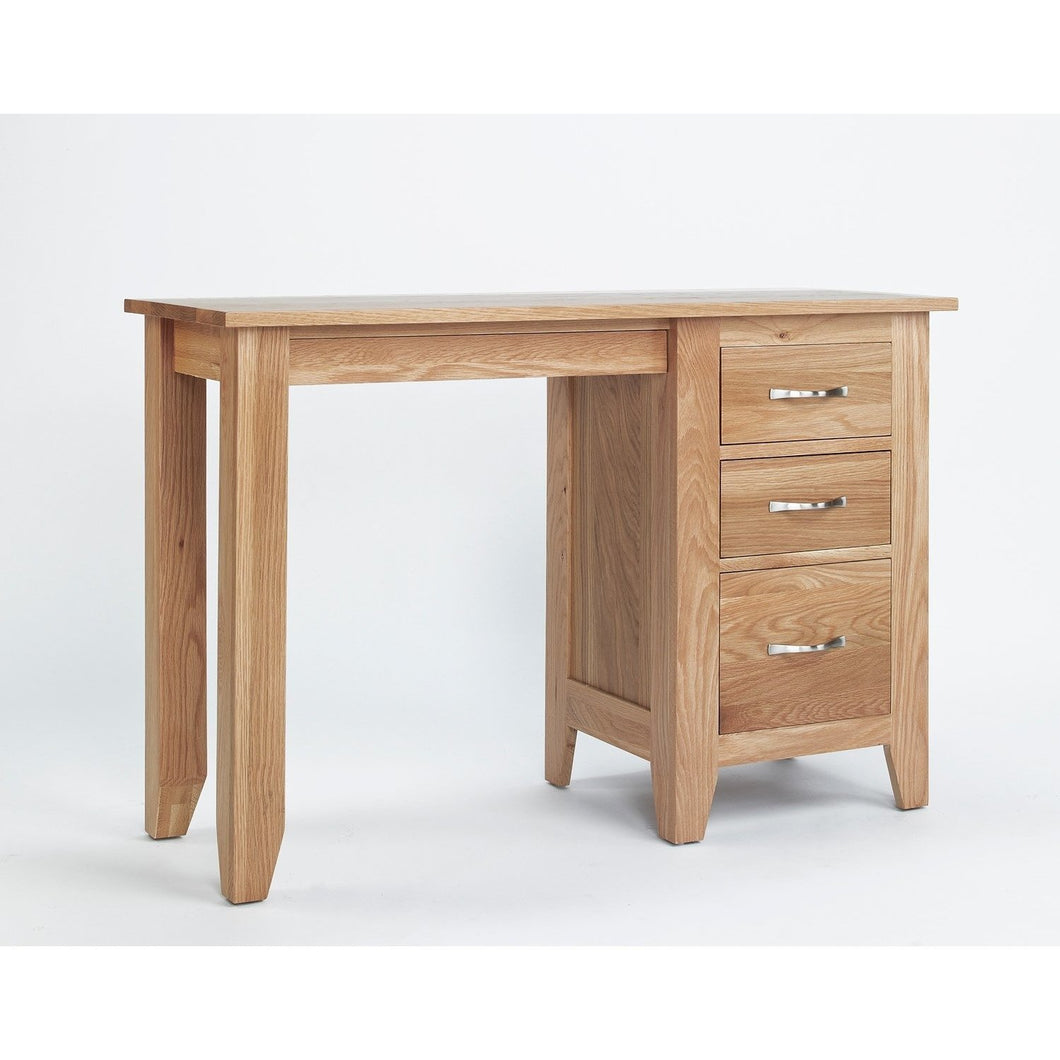 Sherwood Oak Pedestal Dressing Table - Perfectly Home Interiors