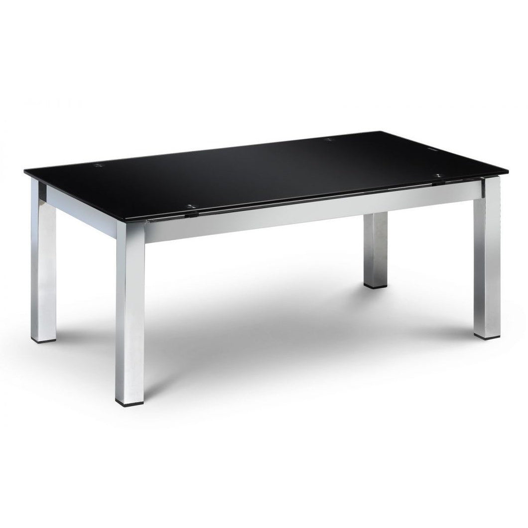 Tempo chrome and black Coffee Table - Perfectly Home Interiors