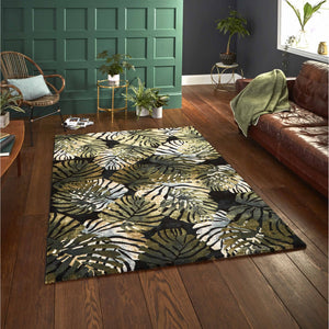 Tropics 6097 Black Green - Perfectly Home Interiors