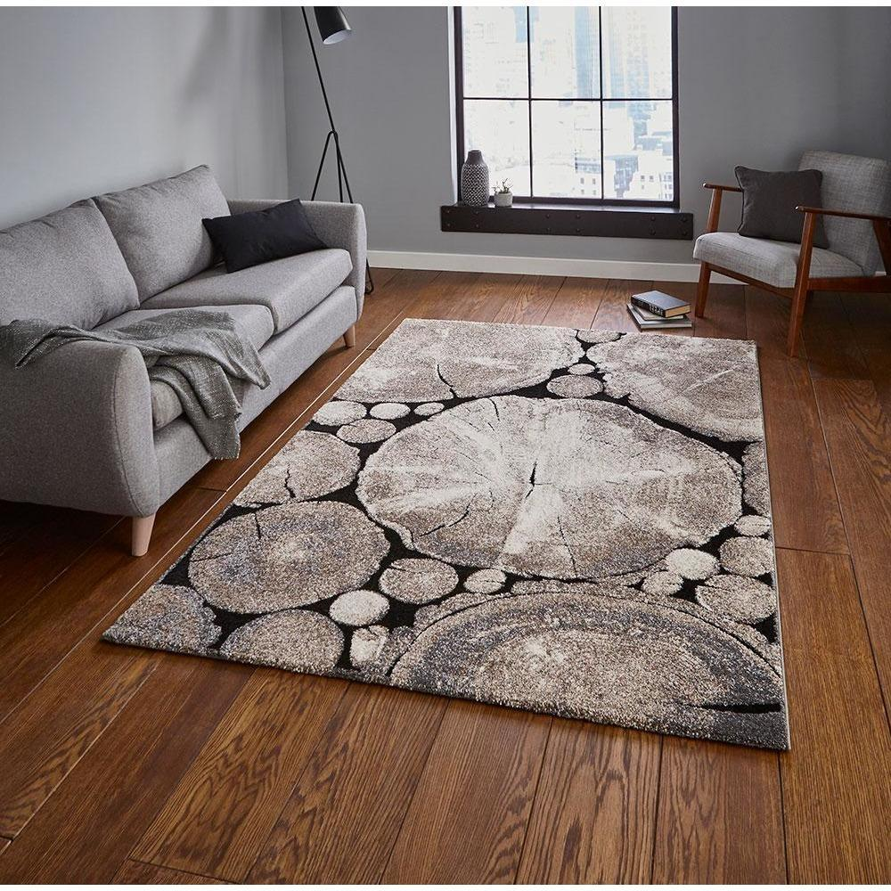 Woodland 6318 Beige/Black Rug - Perfectly Home Interiors