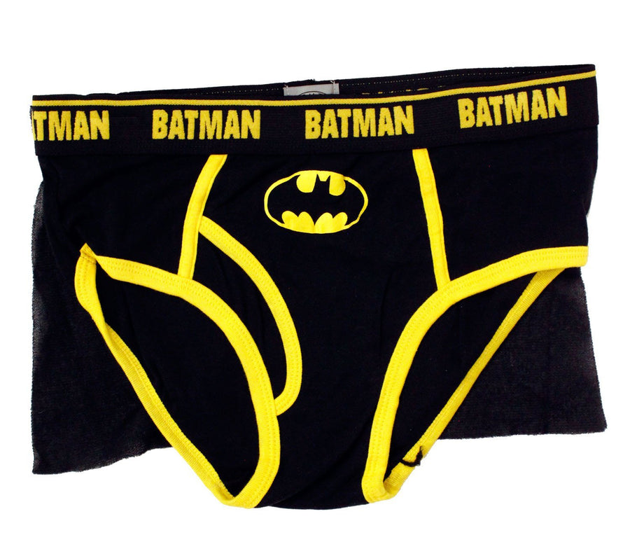 Batman Adult Mens Underwear, Dark Night Caped Brief for Men -Clearance