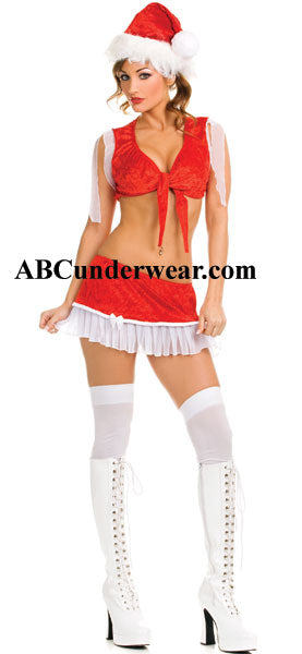 3 piece Santa Girl costume includes Hat - Clearance
