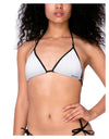 Womens Bikini Swimsuit Top and Bottom White