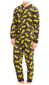 Men's Batman Reverse Shield Blanket Sleeper One Piece -Closeout