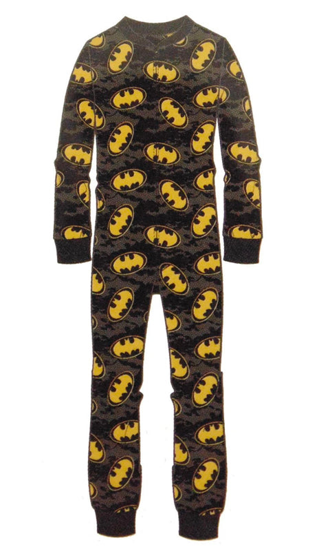 Men's Batman Reverse Shield Blanket Sleeper Onesie -Closeout