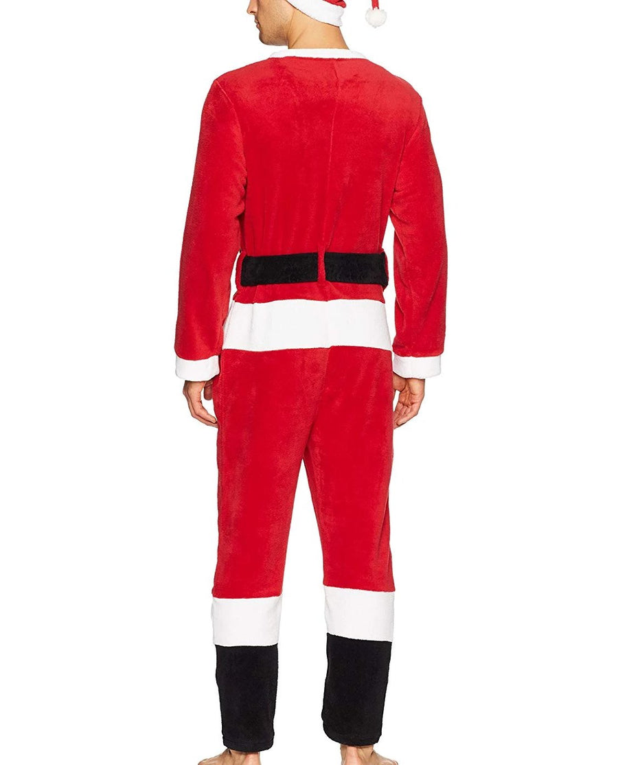 Men's Santa Union Suit, Mr. Claus Costume