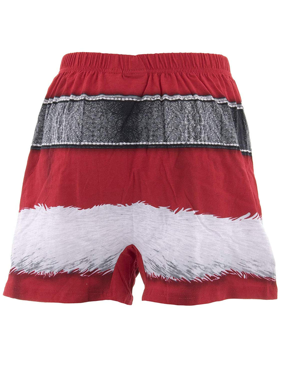 Mens Christmas Boxer Underwear, Men's Santa Claus Boxers, Festive red