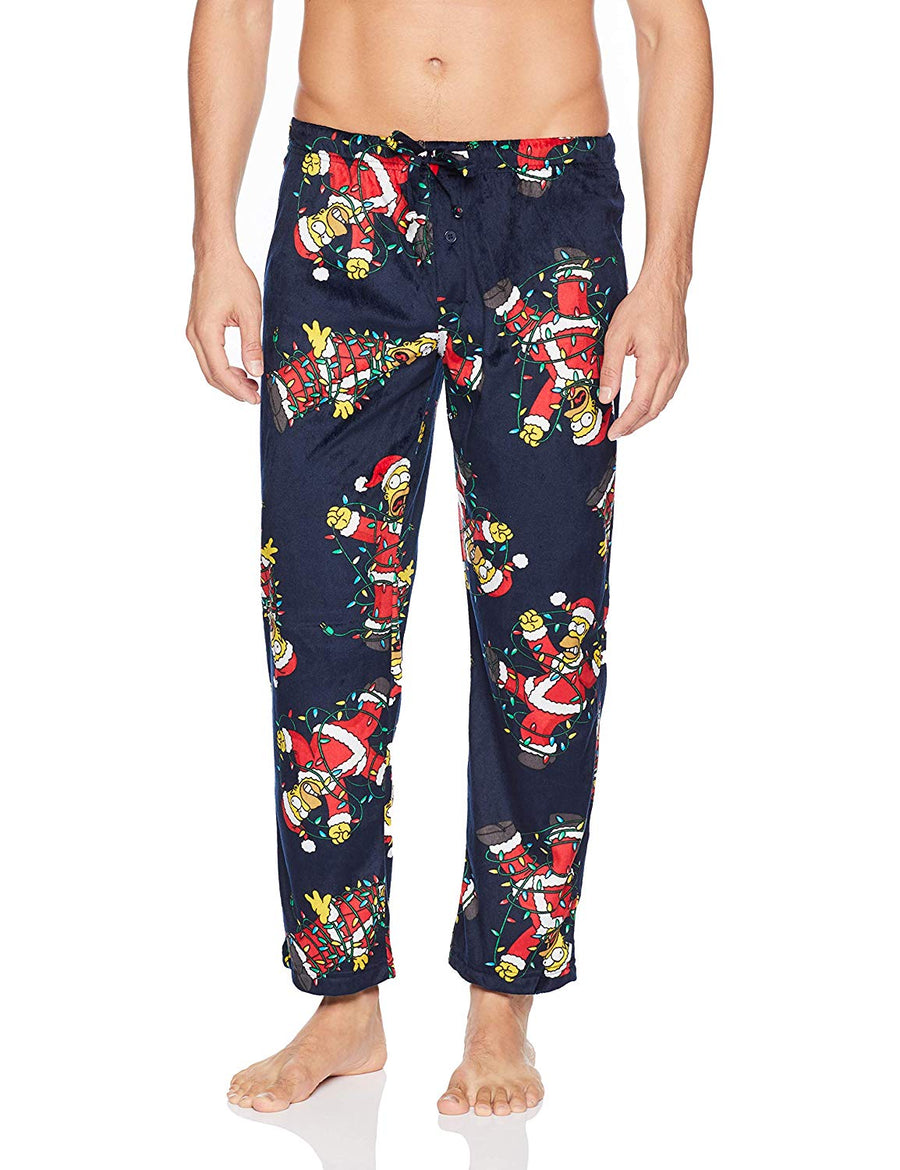 Briefly Stated Men's Holiday Simpsons Lounge Pants