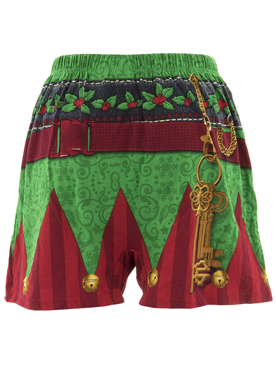Men's Elf Holiday Boxer Set with Novelty Elf Hat