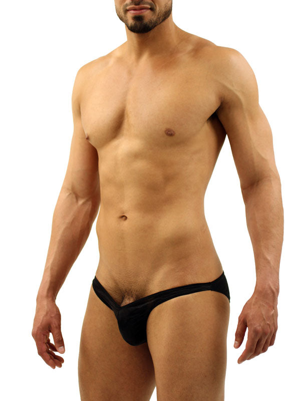 Mens Low-rise Exposed Butt Bikini Brief -Closeout