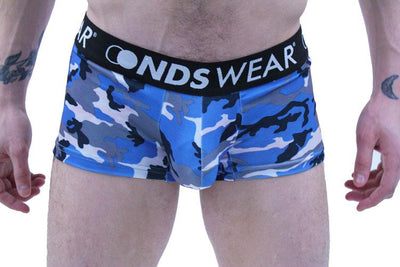 Blue Camo Men's Trunk Underwear by NDS Wear