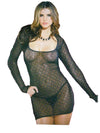 Criss-Cross Diamond Mesh Dress - Clearance