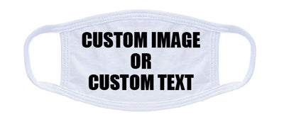 CUSTOM Image or Text 100% Cotton Face Mask - 3 Layer Face Cover - Made in the USA