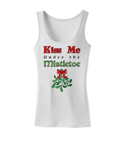 Kiss Me Under the Mistletoe Christmas Womens Tank Top