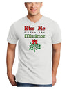 Kiss Me Under the Mistletoe Christmas Unisex Adult V-Neck T-shirt